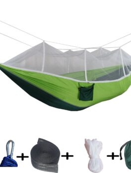 Ultralight Parachute Hammock With Hunting Mosquito Net Double Person Sleeping Bed Outdoor Camping Portable Hammock Hamac Amaca